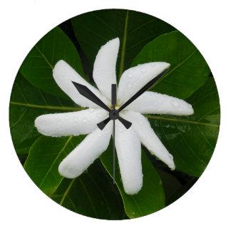 Tahitian Gardenia Large Clock