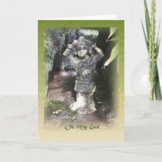 Tahitian God Belated Birthday Card