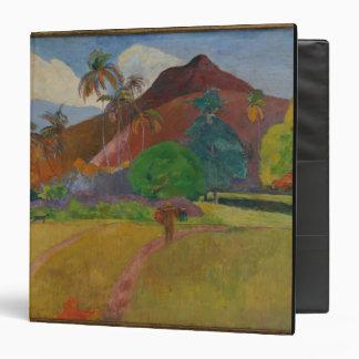 Tahitian Landscape 1891 oil on canvas Vinyl Binders