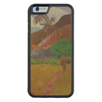 Tahitian Landscape, 1891 (oil on canvas) Carved Maple iPhone 6 Bumper Case