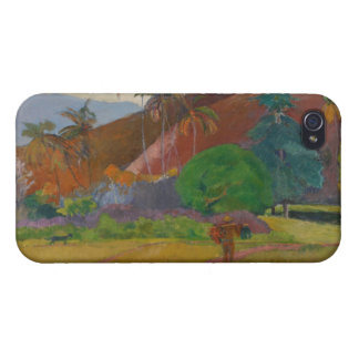 Tahitian Landscape, 1891 (oil on canvas) Case For iPhone 4