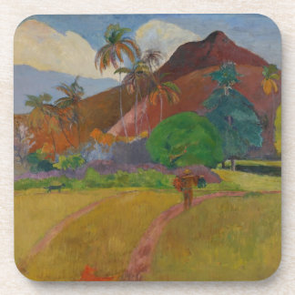 Tahitian Landscape, 1891 (oil on canvas) Coaster