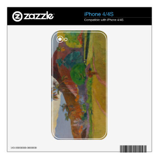 Tahitian Landscape, 1891 (oil on canvas) Decal For The iPhone 4