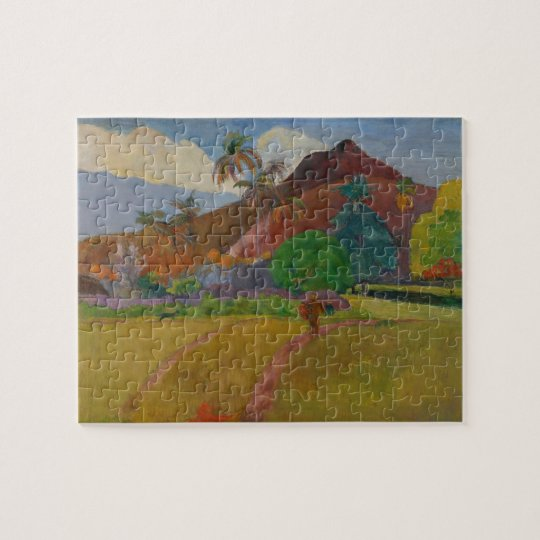 Tahitian Landscape, 1891 (oil on canvas) Jigsaw Puzzle