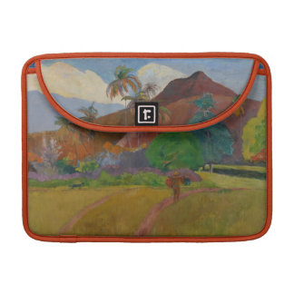 Tahitian Landscape 1891 oil on canvas Sleeve For MacBook Pro