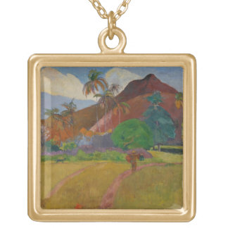 Tahitian Landscape, 1891 (oil on canvas) Necklace