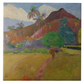 Tahitian Landscape, 1891 (oil on canvas) Tile