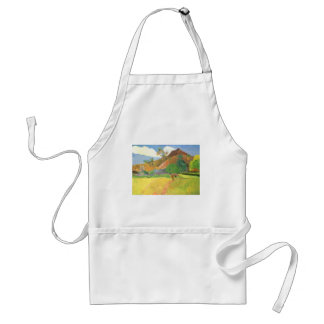 Tahitian Landscape, Mountains Tahiti, Paul Gauguin Adult Apron