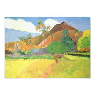 Tahitian Landscape, Mountains Tahiti, Paul Gauguin Card