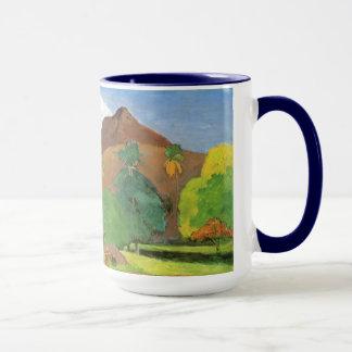 Tahitian Landscape, Mountains Tahiti, Paul Gauguin Mug