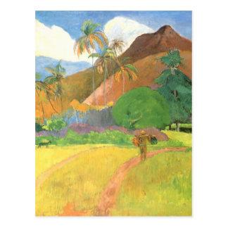 Tahitian Landscape, Mountains Tahiti, Paul Gauguin Postcard