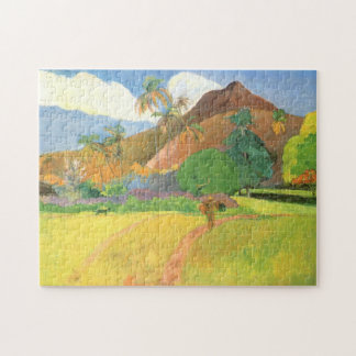 Tahitian Landscape, Mountains Tahiti, Paul Gauguin Puzzle