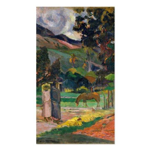 Tahitian Landscape - Paul Gauguin Business Card Template