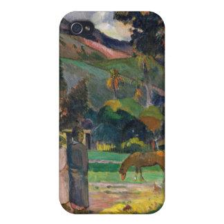 Tahitian Landscape - Paul Gauguin iPhone 4/4S Covers