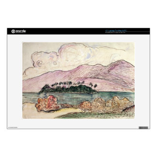 Tahitian Landscape (w/c on paper) Laptop Skin