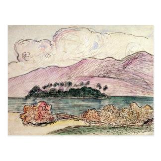 Tahitian Landscape (w/c on paper) Postcard