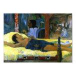 Tahitian Nativity scene Gauguin colorful art woman Custom Invite