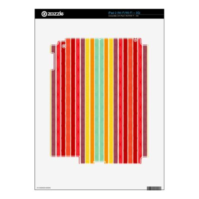 Tahitian Retro Stripe Series #2 iPad 2 Decals