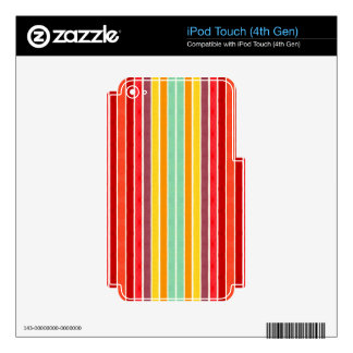 Tahitian Retro Stripe Series #2 Decal For iPod Touch 4G