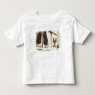 Tahitian tools and Ceremonial instruments, illustr Toddler T-shirt