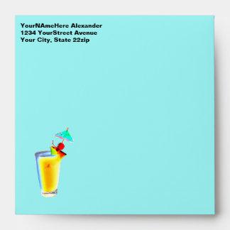 Tahitian Turquoise Umbrella Drink Envelope