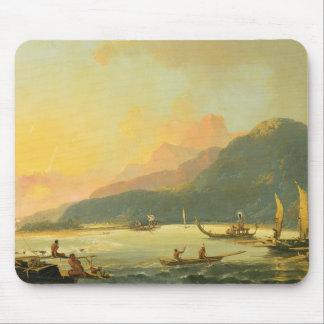 Tahitian War Galleys in Matavai Bay, Tahiti, 1766 Mouse Pad