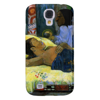 Tahitian woman beauty Gauguin art black Nativity Samsung Galaxy S4 Cases