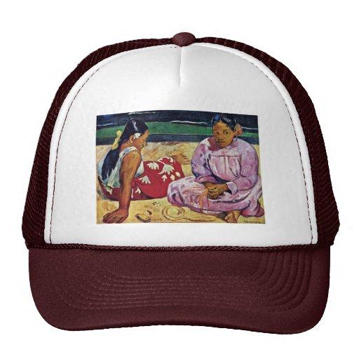 Tahitian Women On The Beach By Paul Gauguin Trucker Hat