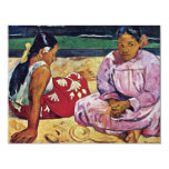 "Tahitian Women On The Beach By Paul Gauguin 4.25"" X 5.5"" Invitation Card"