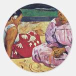 Tahitian Women On The Beach By Paul Gauguin Sticker