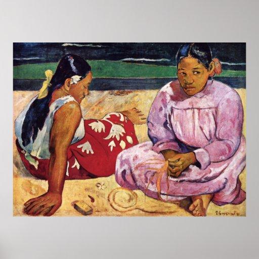 Tahitian Women on the Beach, Paul Gauguin Print