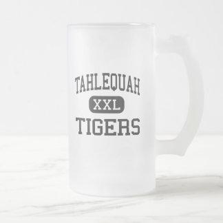 Tahlequah - Tigers - Junior - Tahlequah Oklahoma Frosted Glass Beer Mug