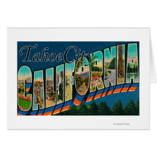 Tahoe City, California - Large Letter Scenes Card