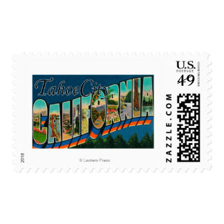 Tahoe City, California - Large Letter Scenes Postage