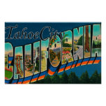 Tahoe City, California - Large Letter Scenes Poster