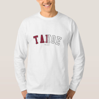 Tahoe in California state flag colors T-Shirt