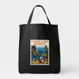 Tahoe Lake Region Vintage Tote Bags