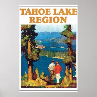 Tahoe Lake Region Vintage Travel Poster Artwork