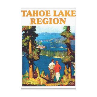 Tahoe Lake Region Vintage Travel Poster Artwork Canvas Print