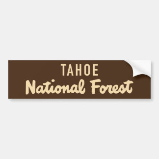 Tahoe National Forest Bumper Sticker