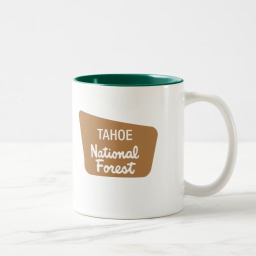 Tahoe National Forest (Sign) Two-Tone Coffee Mug