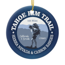 Tahoe Rim Trail Ceramic Ornament