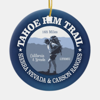 Tahoe Rim Trail Double-Sided Ceramic Round Christmas Ornament