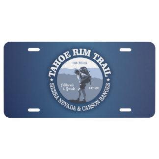 Tahoe Rim Trail License Plate