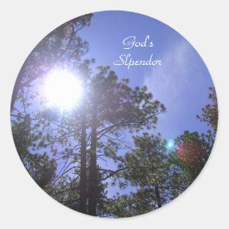 Tahoe Sky *God's Slpendor Classic Round Sticker