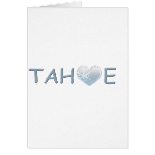 TAHOE TARJETA DE FELICITACIÓN
