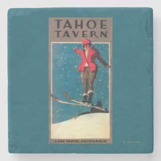 Tahoe Tavern Promo Poster Stone Coaster