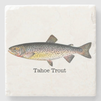 Tahoe Trout Fish Stone Coaster