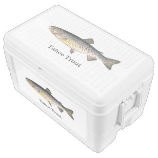 Tahoe Trout Fishing Chest Cooler
