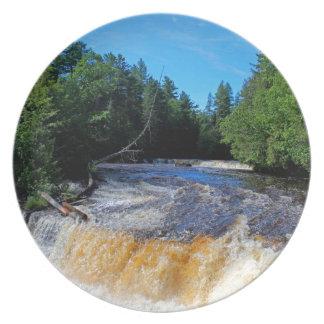 Tahquamenon Lower Falls III Melamine Plate